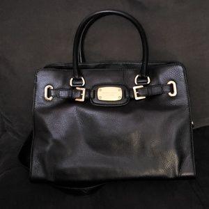 MICHAEL KORS Leather Tech Friendly Handbag Black